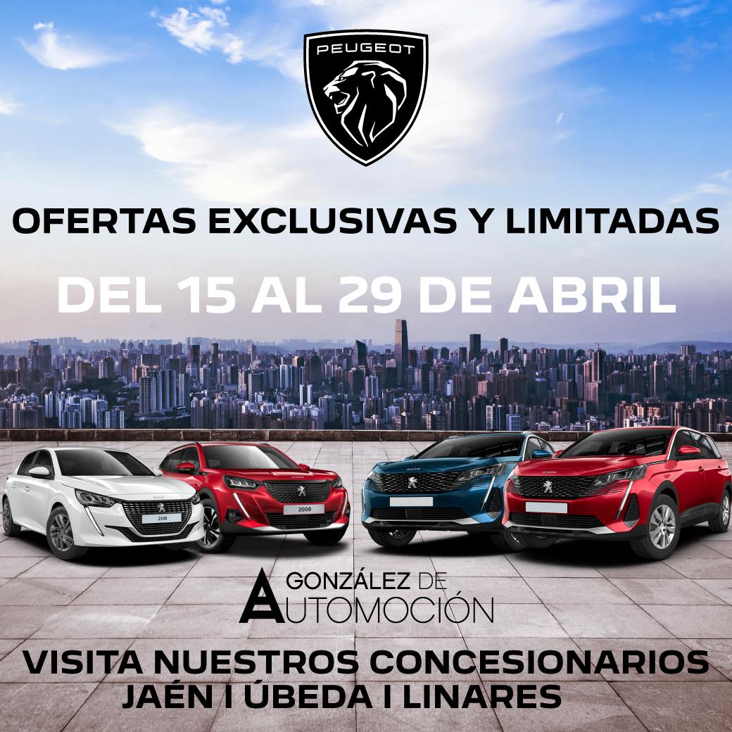 Jaén Peugeot Ofertas Exclusivas Abril Gonzalez de Automocion